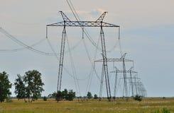 Высоковольтная линия электропередач Стоковое фото RF