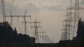Высоковольтная линия электропередач Стоковое Фото
