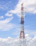 Высоковольтная опора линии электропередач Стоковые Фото