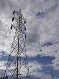 Высоковольтная передающая линия стоковая фотография rf