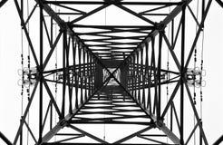 Высоковольтная электрическая башня Стоковое Изображение RF