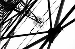 Высоковольтная электрическая башня Стоковое фото RF