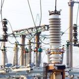 Высоковольтное электричество Стоковые Фото