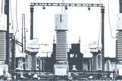Высоковольтное электричество Стоковая Фотография