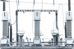 Высоковольтное электричество Стоковое Фото