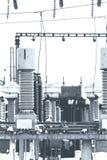 Высоковольтное электричество Стоковое Изображение