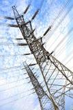 Высоковольтные башни передачи энергии Стоковая Фотография