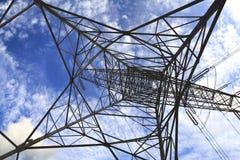 Высоковольтные башни передачи энергии Стоковое Фото