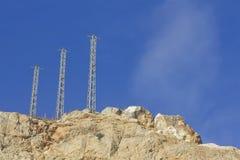 Высоковольтные башни энергии Стоковая Фотография RF