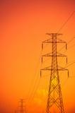 Высоковольтные башни Стоковая Фотография