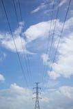 Высоковольтные линии электропередач Стоковое Фото