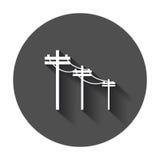 Высоковольтные линии электропередач иллюстрация вектора