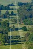 Высоковольтные линии Стоковая Фотография RF