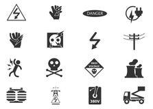 Высоковольтные установленные значки Стоковые Изображения