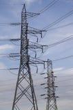 Высоковольтные электрические башни Стоковая Фотография RF