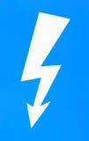 Высоковольтный знак опасности Стоковая Фотография RF