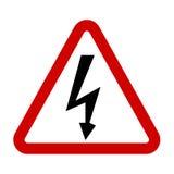 Высоковольтный знак Символ опасности Стоковое Изображение