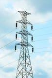 Высоковольтный столб или электрический столб Стоковые Фото