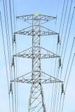 Высоковольтный столб электричества Стоковая Фотография RF