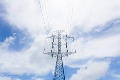 Высоковольтный столб Стоковое Изображение RF