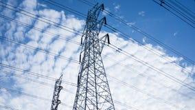 Высоковольтный столб стоковое изображение