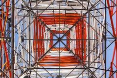 Высоковольтный столб Стоковые Фото