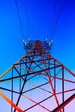 Высоковольтный столб Стоковая Фотография RF