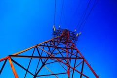 Высоковольтный столб Стоковое фото RF