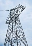 Высоковольтный электрический столбец Стоковая Фотография RF
