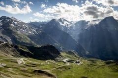 высокогорная высокая дорога Стоковые Фото