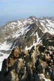 высокогорная горная цепь снежная Стоковые Фото