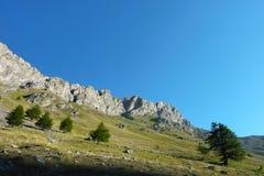 Высокогорная долина в предыдущих часах утра Стоковое Изображение RF