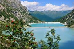 высокогорная долина резервуаров 2 laghi avio d Стоковая Фотография