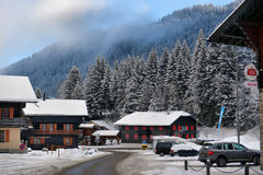 высокогорная зима ландшафта Стоковые Изображения RF