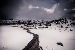 высокогорная дорога снежная Стоковое Фото