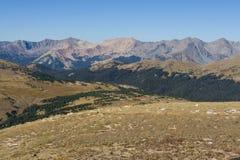 Высокогорная тундра в утесистых горах Стоковые Фотографии RF