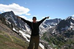 высокогорная hiking Монтана стоковая фотография rf