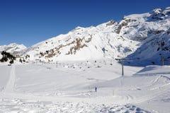Высокогорное катание на лыжах на Engelberg Стоковое Фото