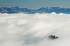 Высокогорное море облаков Стоковое Изображение