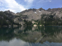 высокогорное озеро Стоковые Изображения RF