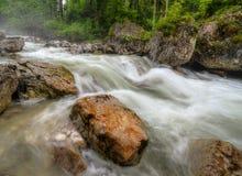 высокогорное река Стоковое Фото