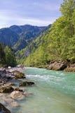 высокогорное река Стоковая Фотография