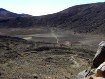 высокогорное tongariro скрещивания Стоковая Фотография RF
