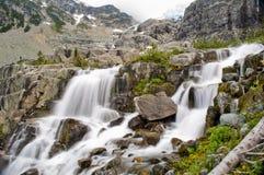 Высокогорные водопады, озера Joffre, Pemberton, Британская Колумбия Стоковое фото RF