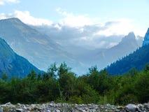 Высокогорные горы в Швейцарии в Unterstock, Urbachtal Стоковая Фотография RF