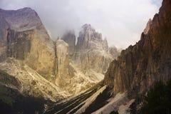 высокогорные горы Стоковое Изображение