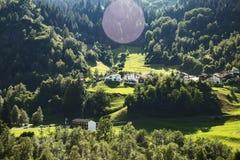 Высокогорные луга в Швейцарии Стоковое фото RF