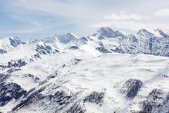 высокогорные наклоны cormayeur Стоковое фото RF