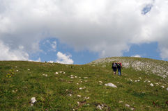 высокогорные hikers Стоковые Фотографии RF