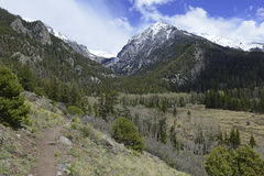 Высокогорный ландшафт, Sangre de Cristo Ряд, скалистые горы в Колорадо Стоковые Изображения